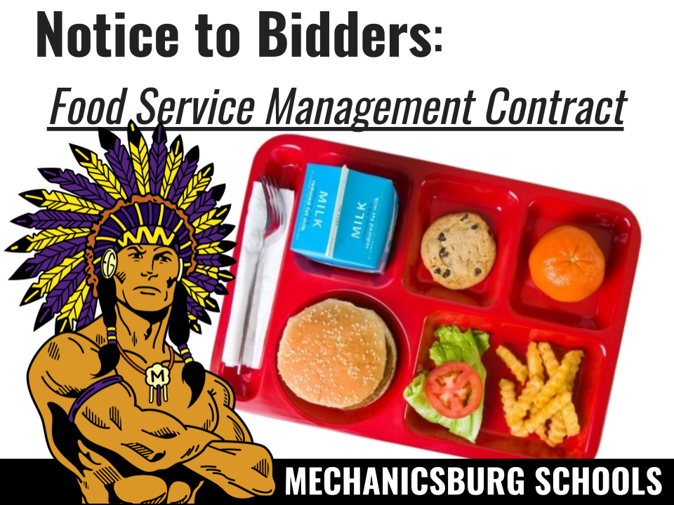Notice to Bidders - Food Service Management Contract