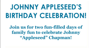 Johnny Appleseed Birthday Celebration