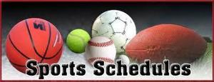 Weekly Athletic Game Schedule