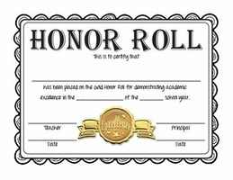 3rd Quarter High School Honor Roll